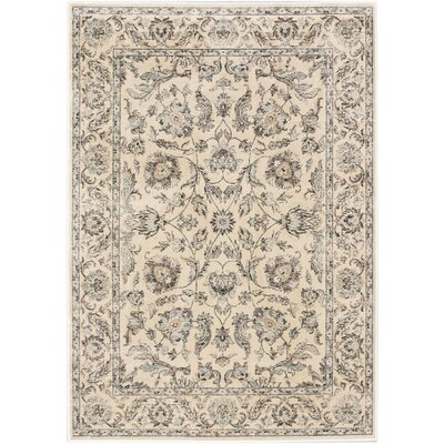 Prescilla Traditional Cream Area Rug Rug Size: 53 x 73