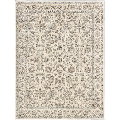 Prescilla Traditional Cream Area Rug Rug Size: 7'10 x 10'2