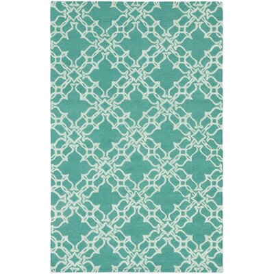 Stella Casual Hand Tufted Teal Area Rug