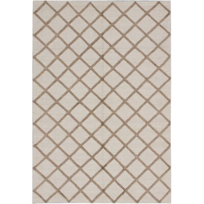 Bonhill Transitional Flat Woven Kilim Cream Area Rug Rug Size: Rectangle 6 x 9