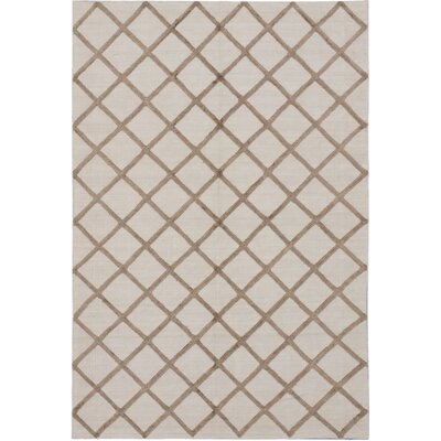 Bonhill Transitional Flat Woven Kilim Cream Area Rug Rug Size: 8 x 10