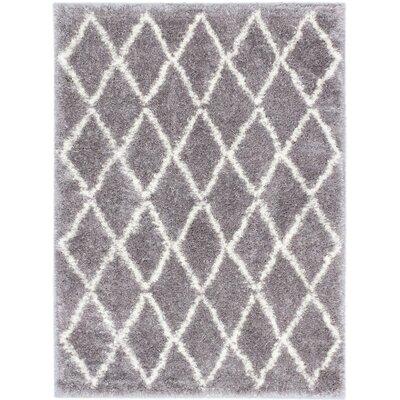 Labrador Diamante Shag Dark Gray Area Rug Rug Size: Rectangle 53 x 73