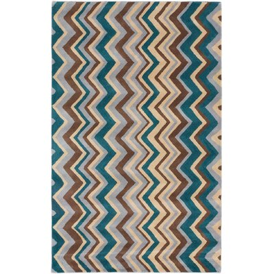 Zig Zag Casual Hand Tufted Light Yellow Area Rug