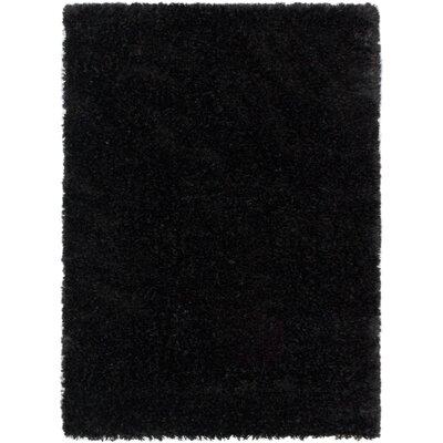 Uptown Midnight Black Shag Area Rug Rug Size: 53 x 73
