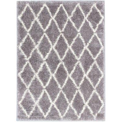 Labrador Diamante Shag Dark Gray Area Rug Rug Size: Rectangle 710 x 102