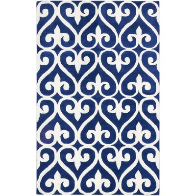 Sherly Transitional Hand Tufted Cream/Blue Area Rug