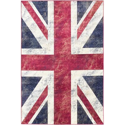 Union Jack Novelty Red Area Rug
