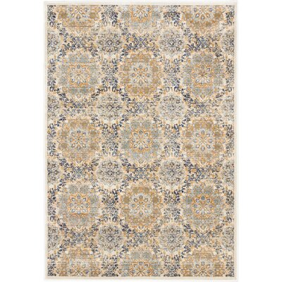 Rosalyn Transitional Champagne Area Rug Rug Size: Rectangle 53 x 73