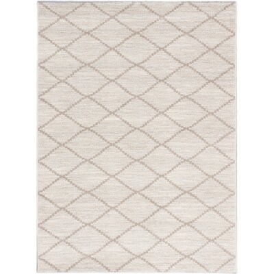 Noto Transitional Beige Area Rug Rug Size: 53 x 73