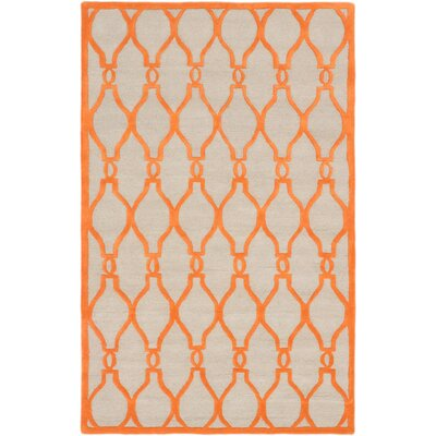 Griffing Transitional Hand Tufted Orange Area Rug