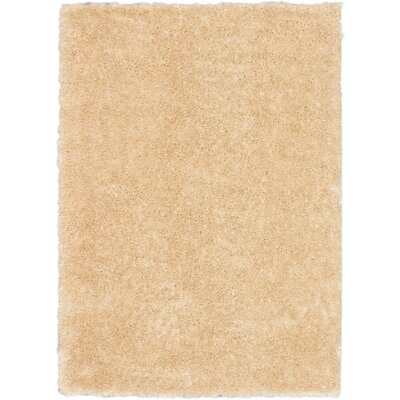 Uptown Champagne Shag Area Rug Rug Size: 53 x 73