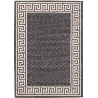 Knossos Casual Black Indoor/Outdoor Area Rug Rug Size: Rectangle 53 x 77