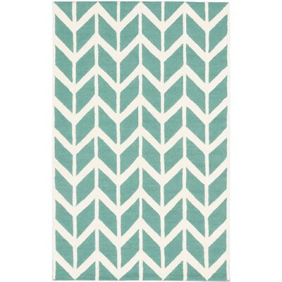 Zig Zag Casual Hand Tufted Cream Area Rug