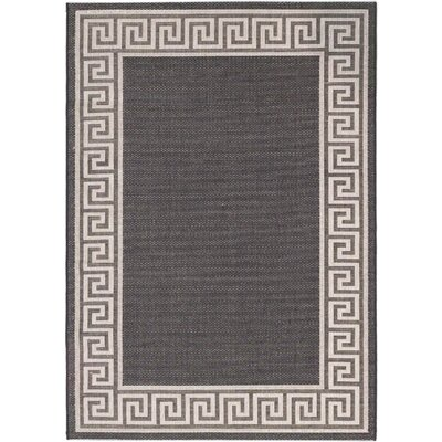 Knossos Casual Black Indoor/Outdoor Area Rug Rug Size: Rectangle 311 x 57