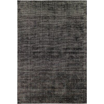 One-of-a-Kind Don Transitional Hand-Knotted Black Area Rug