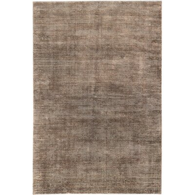 Don Transitional Hand Knotted Dark Brown Area Rug