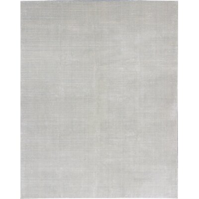 Don Transitional Hand Knotted Light Gray Area Rug Rug Size: 99 x 139