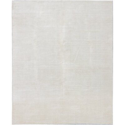 Don Transitional Hand Knotted Cream Area Rug