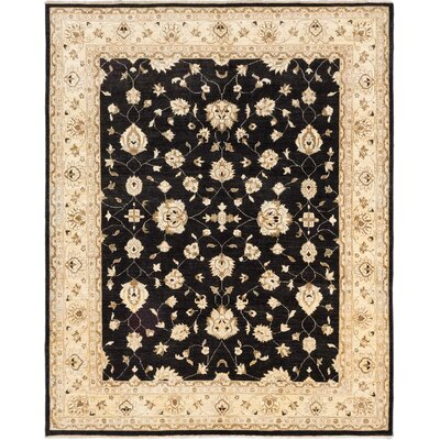 Chobi Finest Hand-Knotted Black Area Rug