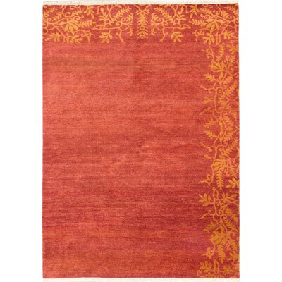 Peshawar Ziegler Hand-Knotted Dark Orange-Red Area Rug