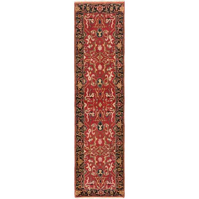 Baldry Hand-Knotted Red Area Rug