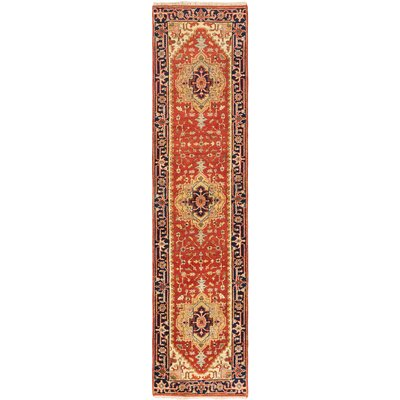 Serapi Heritage Hand-Knotted Dark Copper Area Rug Rug Size: Runner 27 x 103