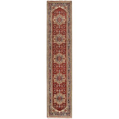 Serapi Heritage Hand-Knotted Dark Orange-Red Area Rug