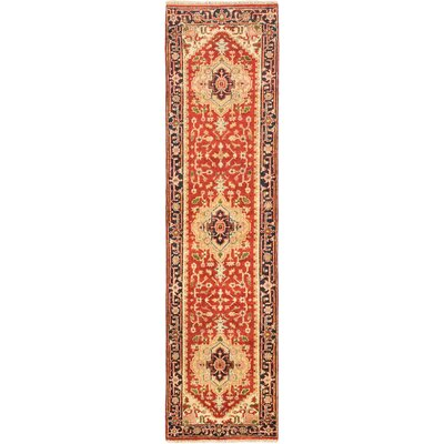 Serapi Heritage Hand-Knotted Dark Copper Area Rug Rug Size: Runner 27 x 10