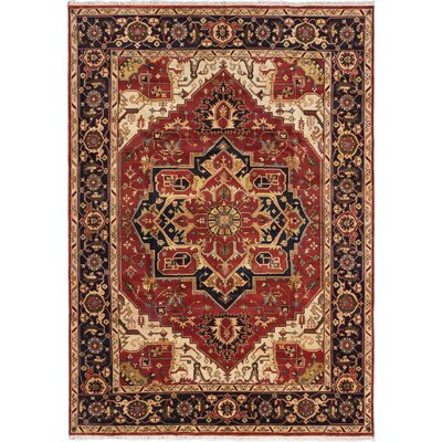 Serapi Heritage Hand-Knotted Dark Copper Area Rug Rug Size: 101 x 142