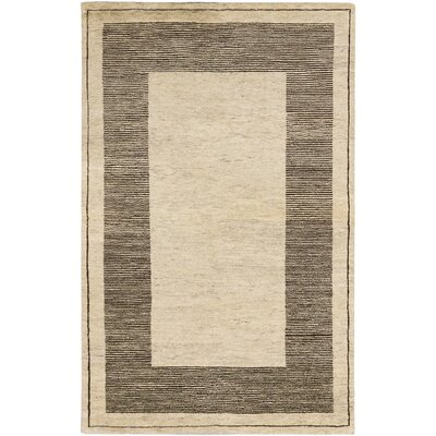 One-of-a-Kind Royal Maroc Hand-Knotted Cream Area Rug