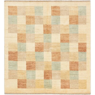 One-of-a-Kind Peshawar Ziegler Hand-Knotted Cream Area Rug