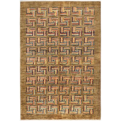 Peshawar Ziegler Hand-Knotted Camel Area Rug