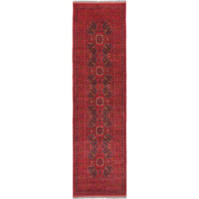 One-of-a-Kind Finest Khal Mohammadi Hand-Knotted Dark Red Area Rug