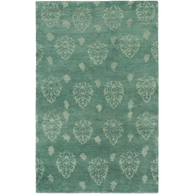 Royal Maroc Hand-Knotted Teal Area Rug