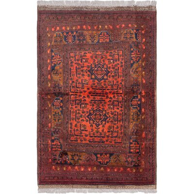 Finest Khal Mohammadi Hand-Knotted Copper/Dark Red Area Rug