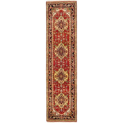 Serapi Heritage Hand-Knotted Dark Copper Area Rug Rug Size: Runner 25 x 197