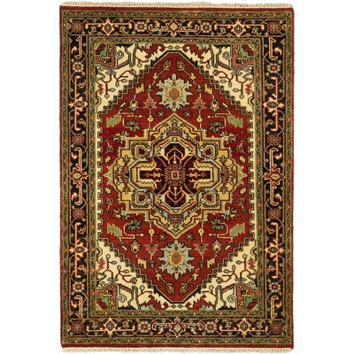 Serapi Heritage Hand-Knotted Dark Copper Area Rug Rug Size: 4 x 511