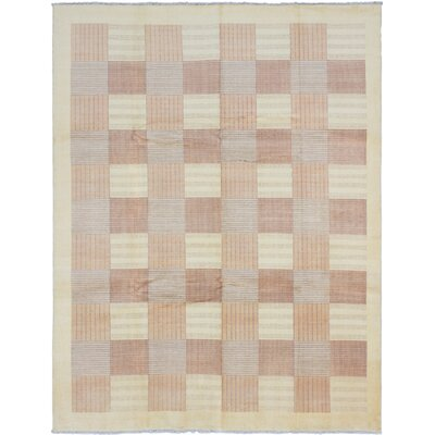 Peshawar Ziegler Hand-Knotted Light Gold Area Rug