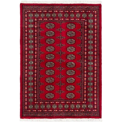 Peshawar Bokhara Hand-Knotted Red Area Rug