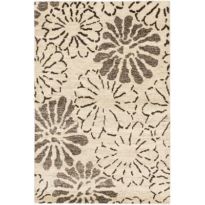 Dothan Hand-Knotted Cream Area Rug