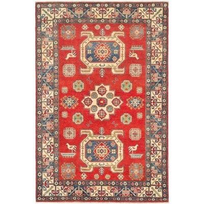 Finest Gazni Hand-Knotted Red Area Rug
