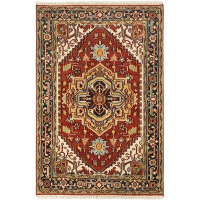 Baldry Hand-Knotted Dark Copper Area Rug Rug Size: 4 x 61