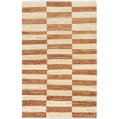 Peshawar Ziegler Hand-Knotted Brown Area Rug