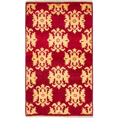 One-of-a-Kind Peshawar Ziegler Hand-Knotted Red Area Rug