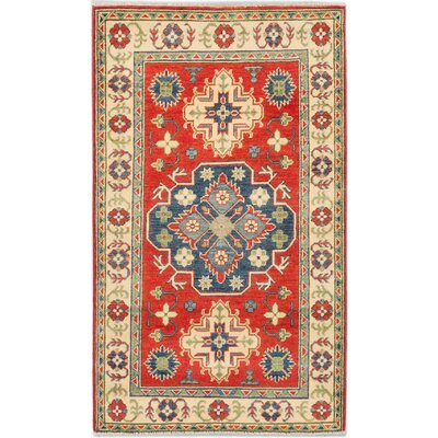 Finest Gazni Hand-Knotted Red Area Rug Rug Size: 3 x 51