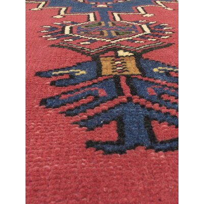 One-of-a-Kind Braintree Vintage Hand-Knotted Dark Pink Area Rug
