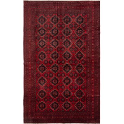 Finest Khal Mohammadi Hand-Knotted Dark Red Area Rug