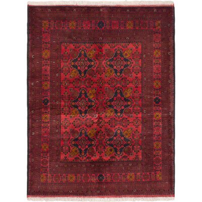 One-of-a-Kind Finest Khal Mohammadi Hand-Knotted Red Area Rug