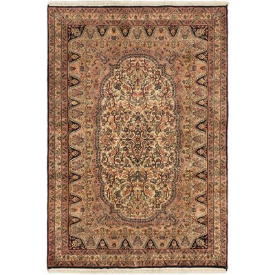 Maharajah Hand-Knotted Beige Area Rug