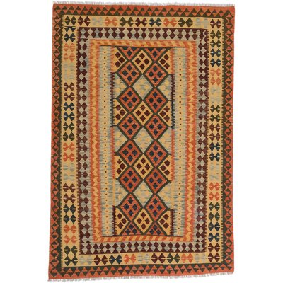 Anatolian Kilim Copper/Light Gold Area Rug